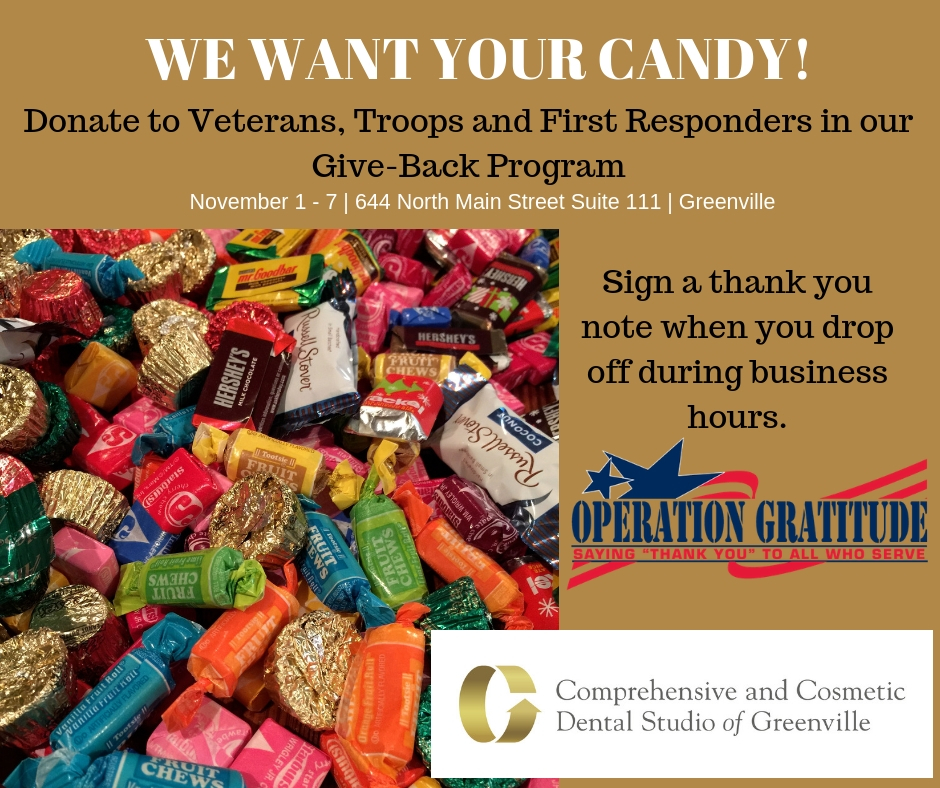 Donate Your Halloween Treats to our Candy Give-Back Program