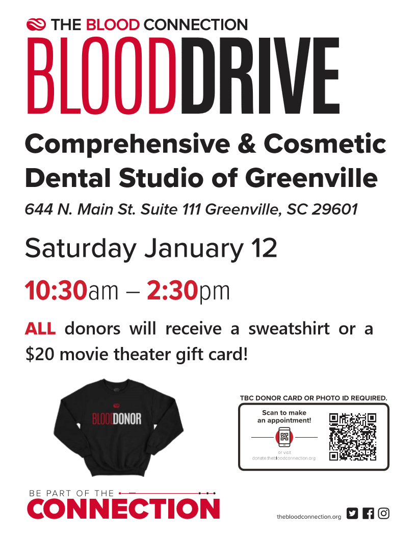 blood drive, blood drive January 12, family dentistry